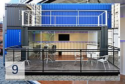 Event container outside view